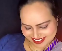 Indian sexy bhabhi smiling