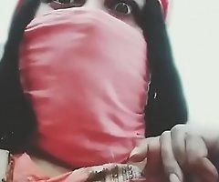 Horny desi babe Nina doing cam joke and showing say no to tongues boobs