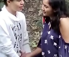 Indian girl outdoor with foreign challenge