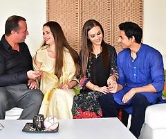 Man enjoys threesome assfuck sex with hot Desi bhabhi and wife