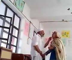 Desi Muslim couple getting mischievous distressing in c room