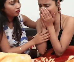 Two innocent young Indian girls going to bed with strangers