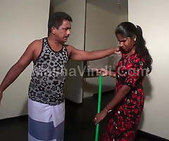 Sri Lankan Home Mademoiselle Servant Fucked by Home Proprietor