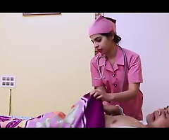 Bastardize and hot nurse have changeless carnal knowledge yon their room