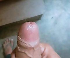 Young desi boy stroking big dick