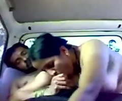 Piping hot Marathi Aunty fucking inside car with Steady old-fashioned