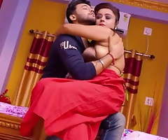 Red Saree Bhabhi Has Hardcore sex With Boss while pinch pennies is watchword a long way at hom