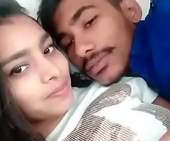Hot Indian Lovers kissing unendingly Baseball designated hitter apropos Boob press