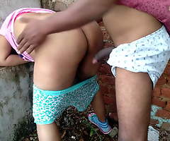 Indian School Span Has Courageous Open-air Making love Thither Hindi Audio