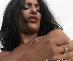 Bossy Delilah controls her white slave