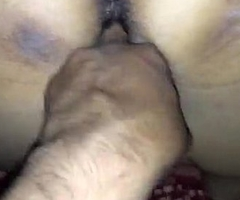 Desi couple having copulation and figering in doggy style
