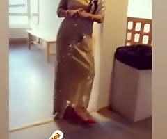 bonny Kurdish queen in the beauty kurdish shiny dress