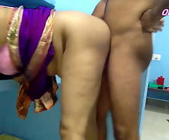 First Era Big cheese Sonali Has Painful Sex In Blue Saree, cum unaffected by boobs
