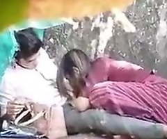 Indian Desi old hat modern Fucking boyfriend in an obstacle Forest 4