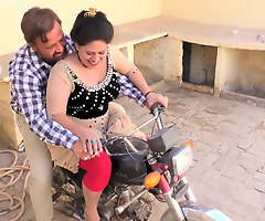 Sadaf aunty's Florence Nightingale hHumaira. Hot bike ride with new driver