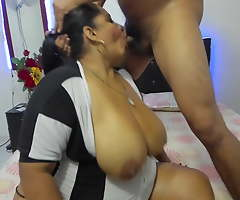 Indian Wife deep throats husband's dick