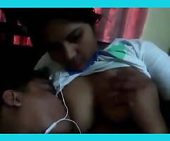 Desi Wife Feeding Big arched beside Husband's Join up