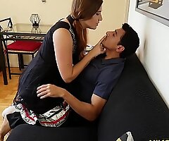 Gori Ma'am intoxicates Indian boy and receives her pain in the neck and pussy fucked