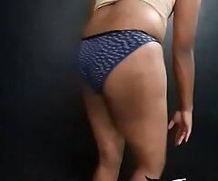Indian crossdresser boob show