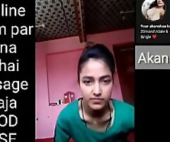 Indian school girl making Selfie videotape be advantageous to her boyfriend