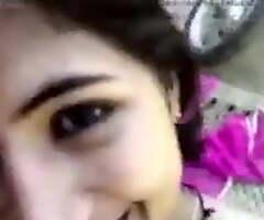 Indian Girlfriend Invites Her Boyfriend Intemperance When She's Alone