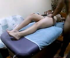 Indian homemade desi massage by friend at dwelling