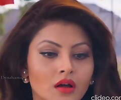 Urvashi Rautela – a caring together with crying babe