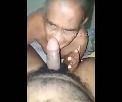 Desi Granny Deep-throats and Fucks Young Grandson in Hindi Porn