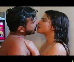 Indian Bhabhi fucked by boyfriend encircling bathroom