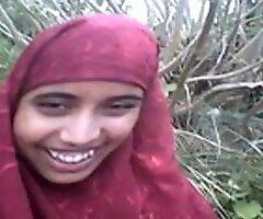 desi Bangla muslim Hijab beauty in woods