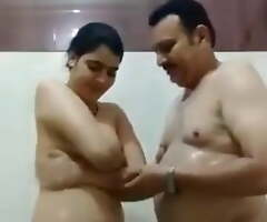 Young Desi Wife – shower twit with older Uncle