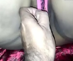 indian matured desi big curvy ass aunty play with vibrator dildo coupled with indian aunty making out with stranger big ass aunty engulfing big cock coupled with clamorous colic