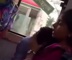 Bangladeshi beau and gf in local Bus
