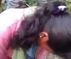 indian gf fucked at the end of one's tether bf with an increment of his friend in jungle