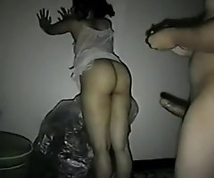 Mumbai aunty frucked from behind unconnected in the matter of their way bf