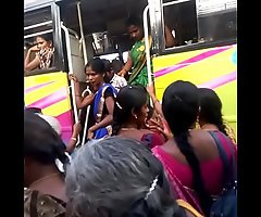 Aunty in bus.. blouse nipple visible... Keep in view carefully 5