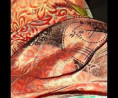 Jerking in maids satin saree 2