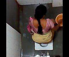 Toilet camera show aunty