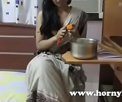 Scalding Lily Erotic Indian Bhabhi Motor coach Dirty Talking and Seducing Her Students
