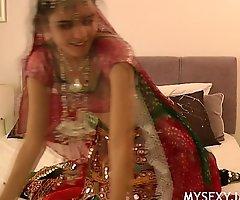 Gujarati Indian Establishing Babe Jasmine Mathur Garba Dance