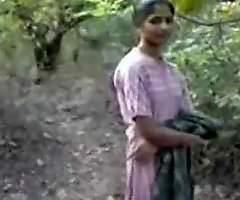 Indian unladylike fucking in forest