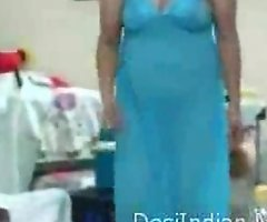Indian Housewife Dancing And Showing Everything In Bedroom