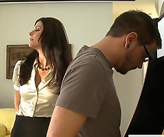 Stockinged mom India Summer gets fucked together with facialized