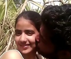 Bringing off with village girl boobs in farm
