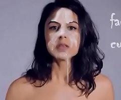 Spanish actress facialized