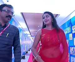 Assume command of Kanika Hot with an increment of Sexy Big Navel Show in Saree