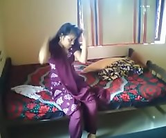 Hot Indian couple homemade affixing 1