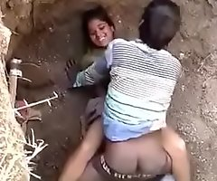 Indian outdoor sex caught in slay rub elbows with act