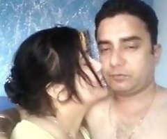 Desi husband and become man are having amusement