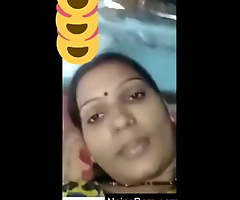 Indian desi village bhabhi equally the brush boobs essentially video call